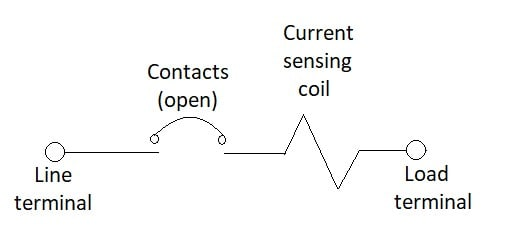 Figure 1. Series trip circuit protector configuration.