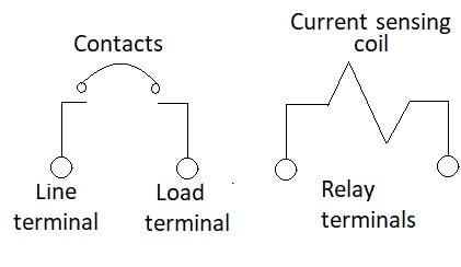 Figure 3. The relay trip circuit protector configuration.