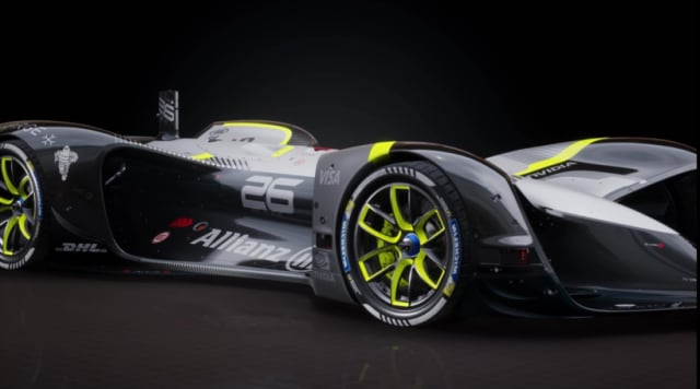 Rendering of the Roborace Robocar. (Image courtesy of AltSpace.)
