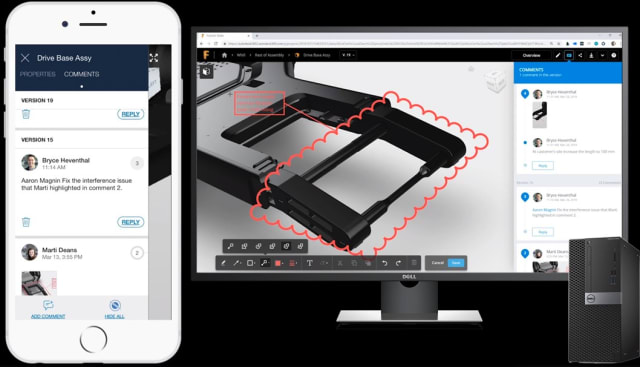 Collaborating in Fusion 360. (Image courtesy of Autodesk.)