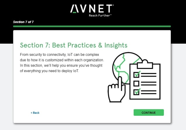Screenshot of Section 7 of the IoT Assessment Tool: Best Practices & Insights. (Image courtesy of Avnet.)