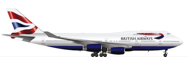 Boeing 747-400 (Picture courtesy of British Airways)