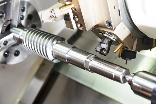 Live tooling on a CNC turning center.
