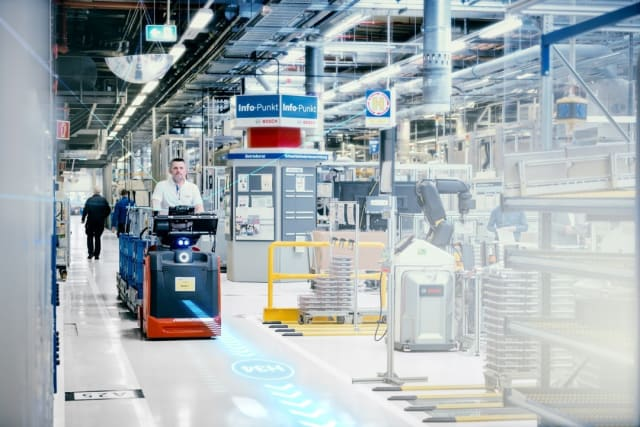 Bosch Industry 4.0 solutions in practice. (Image Courtesy of Bosch).