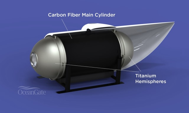 OceanGate uses Onshape to design manned submersibles like the Titan, which will explore the wreckage of the Titanic next summer. (Image courtesy of OceanGate.)