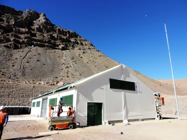 Explosives storage for a mining facility in the Atacama Mountains, Chile. (Image courtesy of Legacy Building Solutions.)