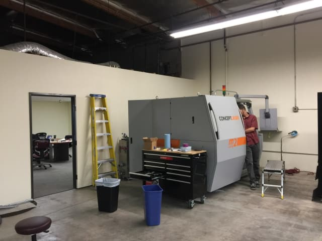Castheon recently moved into a new 4,200 sq ft facility in Thousand Oaks, California which houses 3 Concept Laser M2 cusing machines. (Image courtesy of Concept Laser.)