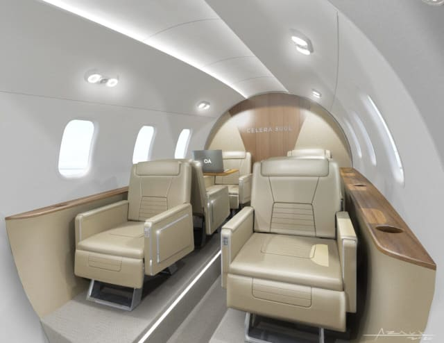 The Celera 500L's interior. (Photo courtesy of Otto Aviation.)