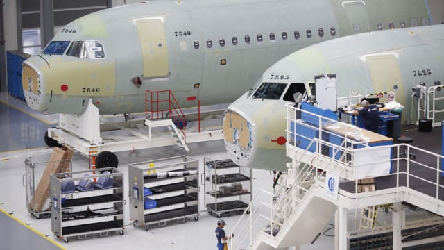 Low activity in aerospace manufacturing is a typical effect of the coronavirus crisis, and the halted air travel that followed and continues to follow in the wake of shut-downs connected to the pandemic. (Image: Getty.)