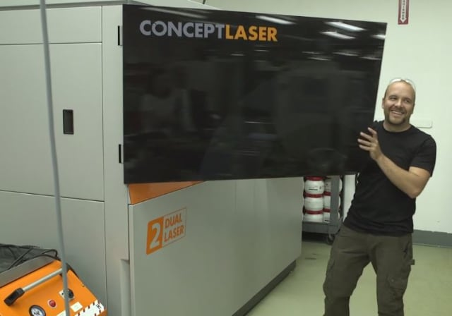 Mike Mussel and the Concept Laser M2 cusing Multilaser.