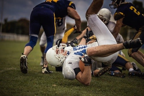 An estimated 1.6 million to 3.8 million sport- and recreation-related concussions occur in the United States each year, according to the Brain Injury Research Institute, with football accounting for more than 60 percent of those injuries. Brightlamp Inc. has launched an application that lets a smartphone user quickly record data that can be sent to a medical trainer or other medical professional who can objectively determine if that person has sustained any neurological disturbance, including concussion. (Image courtesy of Purdue.)