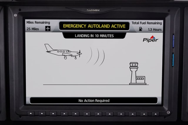Garmin's Autoland system requires no action by pilot or passengers once activated. (Image courtesy of Garmin.)