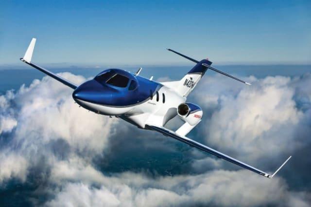 Hondajet in flight. (Image courtesy of Honda Aircraft Company.)
