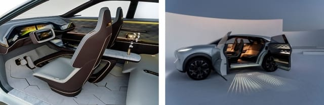 Interior of the Infinit QX Inspiration concept. (Images courtesy of Infiniti.)