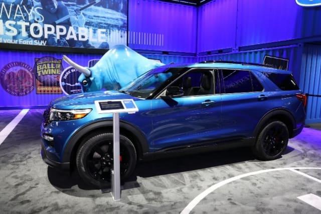 The Ford Explorer hybrid. (Image courtesy of NAIAS.)