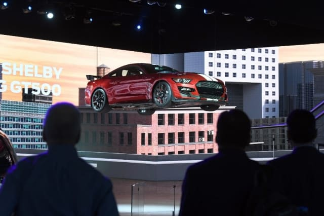 The 2020 Ford Mustang Shelby GT500 in hovercraft mode. (Image courtesy of NAIAS.)