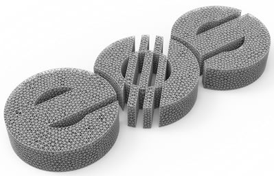 This model of the EOS logo in lattice was made in the nTopology software.