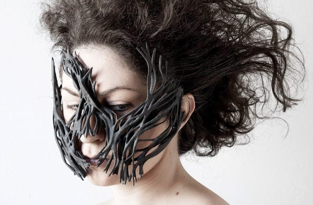An incredible 3D printed mask made with Windform's materials. (Image courtesy of Fabbaloo.)