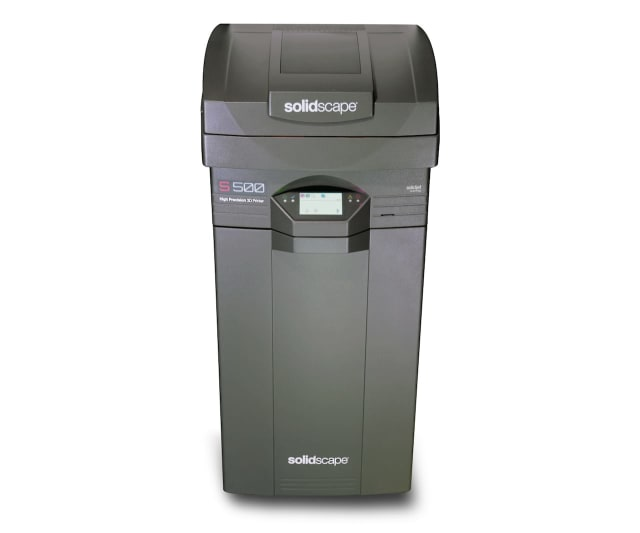 The Solidscape S500 wax 3D printer for industrial metal casting. (Image courtesy of Fabbaloo.)