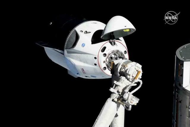The Crew Dragon spacecraft.  (Image courtesy of NASA.)