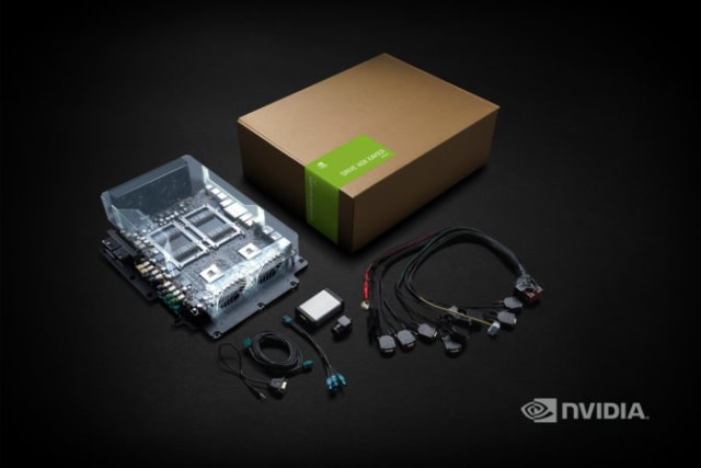 At GTC Japan, Huang announced that the NVIDIA DRIVE AGX Xavier Developer Kit had arrived to market. The software and hardware allows users to develop and test their own unique autonomous driving applications. (Image courtesy of NVIDIA.)