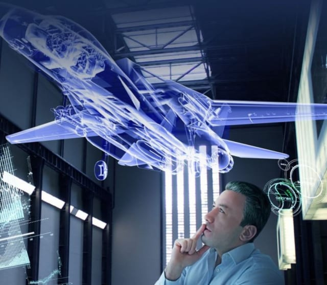 A digital twin is a virtual reflection of a real-world object. (Image courtesy of Dassault Systèmes and Michael W. Grieves.)