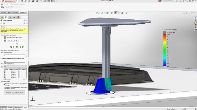 Screenshot of SOLIDWORKS Simulation. (Image courtesy of SOLIDWORKS.)