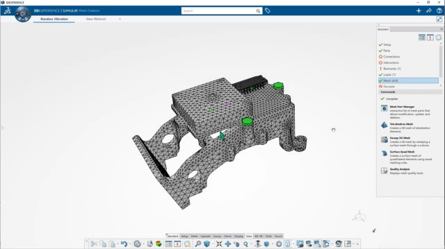 Screenshot of simulation on the 3DEXPERIENCE WORKS platform. (Image courtesy of Dassault Systèmes.)