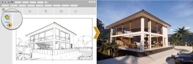Enscape provides a live link plug-in for several popular architectural CAD programs, including Revit, SketchUp, Rhino and ArchiCAD. (Image courtesy of Enscape.)