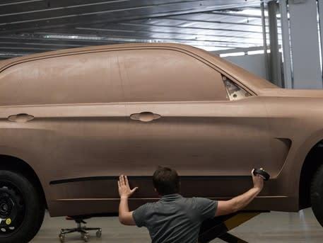 Model tanah liat dari BMW X5.  (Gambar milik BMW AG.)