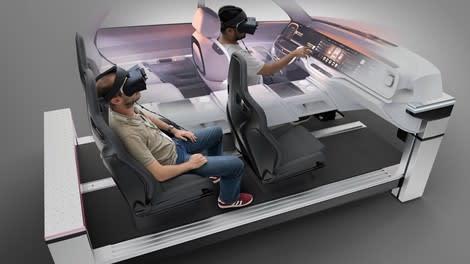 Evaluasi desain kendaraan menggunakan VR.  (Gambar milik Magicor / Granstudio.)