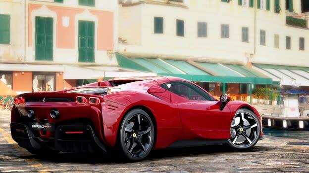 Ferrari virtual yang ditampilkan di Unreal Engine.  (Gambar milik Ferrari SpA / Mackevision.)