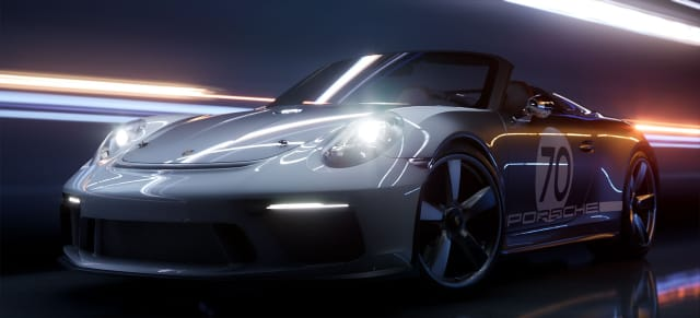 The Porsche 911 Speedster Concept rendered with real-time ray tracing. (Image courtesy of Epic Games/Porsche.)