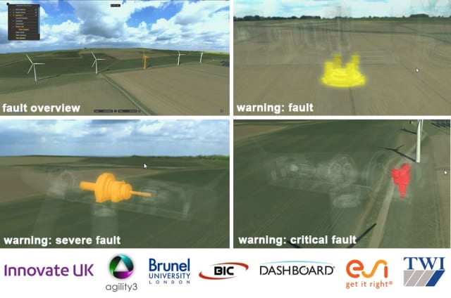The WindTwin platform will help energy companies visualize operational faults in real-time.( Image courtesy of Innovate UK.)