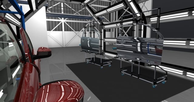 Simulation of an assembly plant.  Zoom in to see if there are any mouse ears. (Picture courtesy of ESI)
