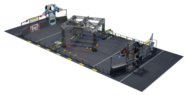 The FIRST Robotics Competition INFINITE RECHARGE playing field. (Image courtesy of FIRST.)