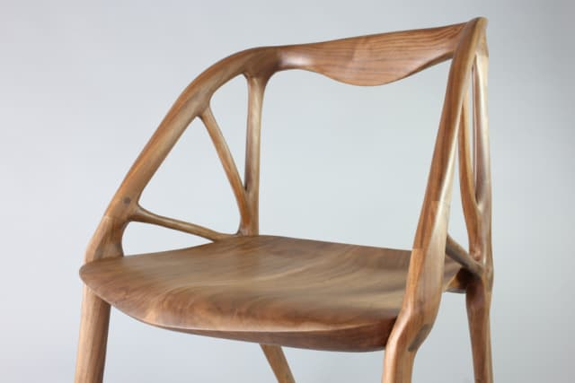 This chair was basically designed by artificial intelligence (AI), after an engineer entered the requirements for the design space. Dreamcatcher then generated a number of designs based on those parameters and the engineer selected the one that they preferred. The CAD model was then sent for CNC manufacture. (Image courtesy of Autodesk.)