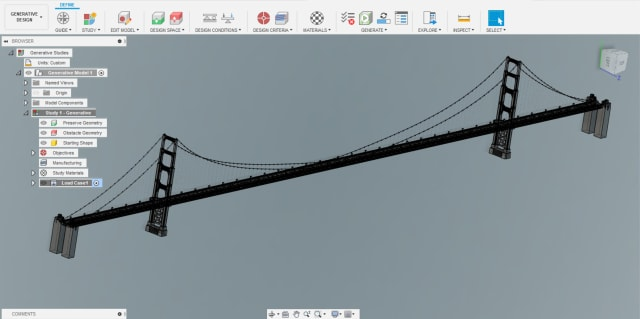 A 1/10th model of the Golden Gate Bridge. (Graciously provided by David James Mackie.)