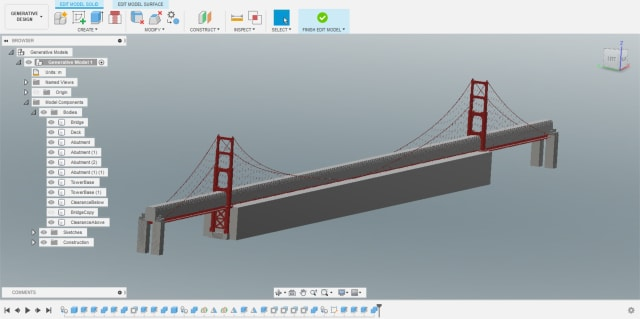 Edit Model mode within Autodesk's generative design. We've added several bodies which we'll specify as Preserve or Obstacle Geometry.