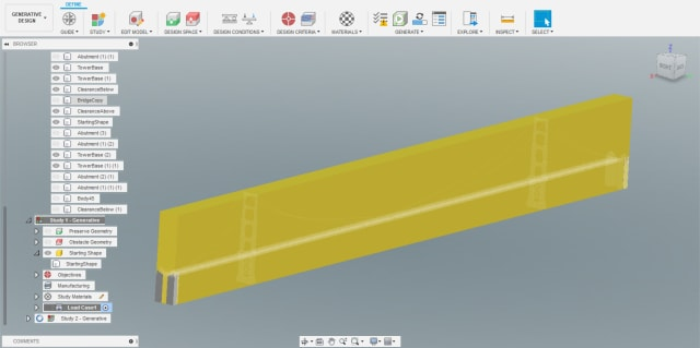 The Starting Shape of the new study is shown in yellow.