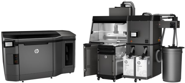 HP's Multi Jet Fusion 3D printing system. (Picture from HP)