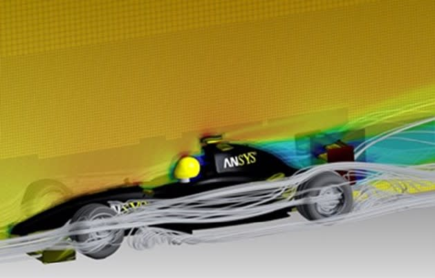 F1 race car simulation on HPC (Picture courtesy of ANSYS)