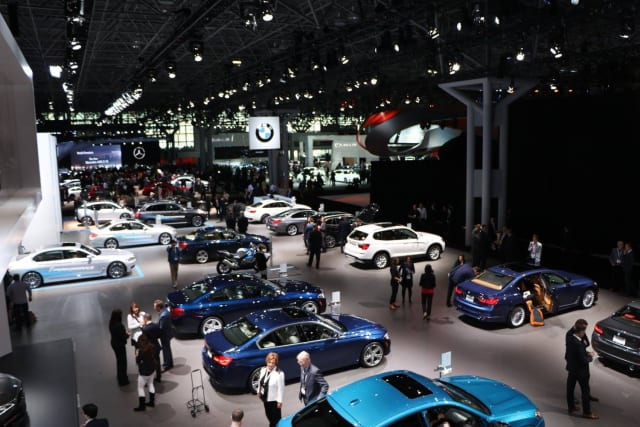 The Javits Center hosting an auto trade show, under more normal circumstances.