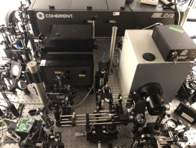 The trillion-frame-per-second compressed ultrafast photography system. (Image courtesy of INRS.)