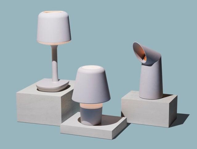 3D-printed lamps from Gantri. (Image courtesy of Gantri.)