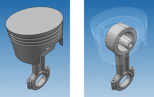 Depiction of the new ghost view option in CAD Exchanger 3.4.0. (Image courtesy of CAD Exchanger.)