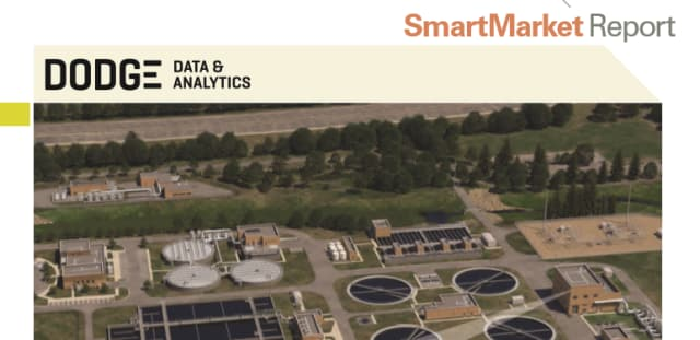 Dodge Data & Analytics' new SmartReport shows that BIM use is becoming increasingly popular among companies in the water industry. (Image courtesy of Dodge Data & Analytics.)