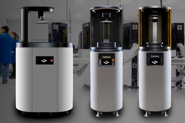 The Carbon SpeedCell features a combination of the Carbon's M1 or M2 3D printers with the new Smart Part Washer. (Image courtesy of Carbon.)