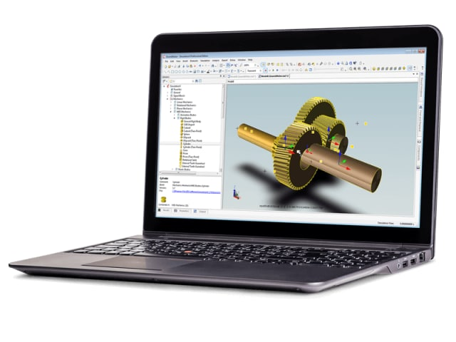 Gear train simulation in SimulationX. (Image courtesy of SimulationX.)