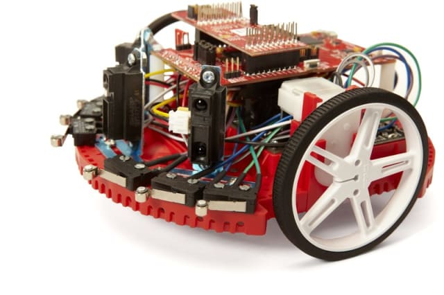 The TI-Robotics System Learning Kit. (Image courtesy of TI.)